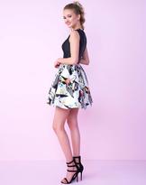 Mac Duggal Homecoming - 30483N Beaded Sleeveless Scoop Printed Dress