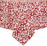 John Lewis Snow Berries Wipe Clean Tablecloth, Red/White