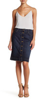 KUT from the Kloth Rosie Button Front Denim Pencil Skirt
