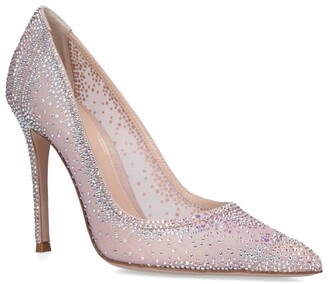 Gianvito Rossi Crystal-Embellished Rania Pumps 105