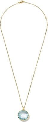 Ippolita 18kt yellow gold medium Lollipop blue topaz pendant necklace