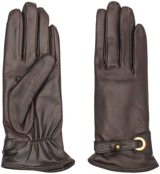 Dalgado Handmade Nappa Leather Gloves Brown Antonella