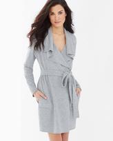 Soma Intimates Baby Terry Cotton Blend Short Robe Heather Grey