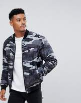 Versace Jeans Bomber Jacket In Grey Tiger Camo