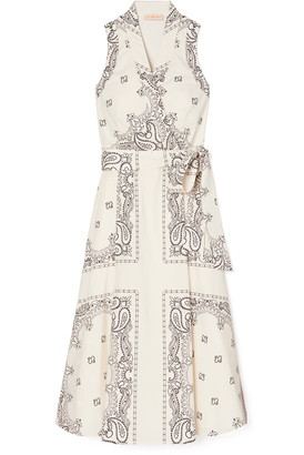 Tory Burch Paisley Sleeveless Wrap Dress