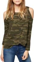 Sanctuary Lolita Cold-Shoulder Camouflage Tee