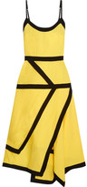 J.W.Anderson Two-tone Linen-blend Midi Dress - Yellow