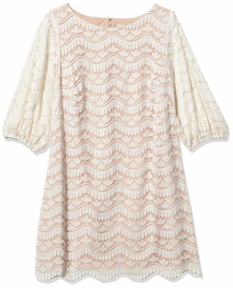 Brinker & Eliza Women's Lace Shift Dress with Detailed Hem
