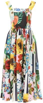 Dolce & Gabbana Patchwork Print Midi Dress