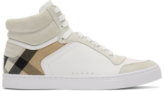 Burberry White House Check Reeth High-Top Sneakers