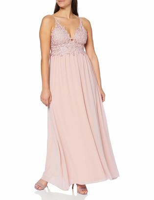 APART Fashion Women's Apart marchenhaft schnes Damen Kleid Lang Abendkleid Ballkleid mit Blutenspitze und glitzernden Steinchen Empire Special Occasion Dress