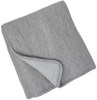 Living Textiles Quilted Comforter - Grey Marl + Grey Heathered Stripes Bedding