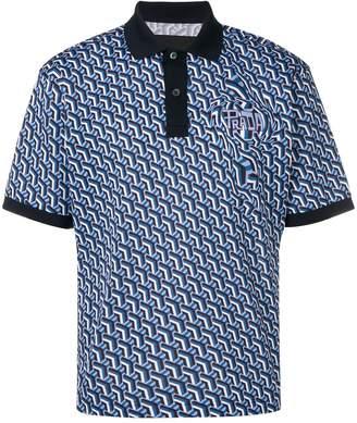 Prada geometric printed polo shirt