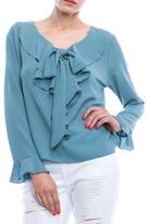 Mono B Ruffled Tie Top