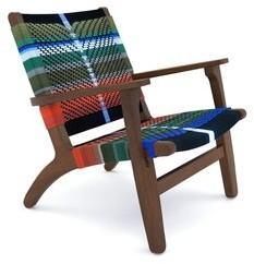 "Masaya & Co 29"" Wide Polyester Armchair Leg Color: Rosita Walnut"