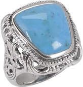 Barse Carved Turquoise Ring CRVDR05MT1 (Women's)