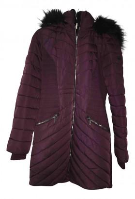 DKNY Purple Polyester Coats