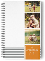 Minted Orange Label Day Planner, Notebook, or Address Book