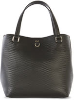 Karen Millen Embossed Mini Bucket Bag - Black