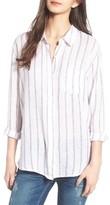 Rails Women's Charli Stripe Linen Blend Shirt