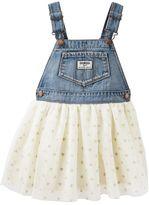 Osh Kosh Toddler Girl Glitter Heart Tulle Skirt Jumper