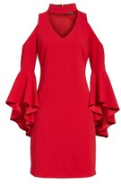Vince Camuto Women's Cold Shoulder Bell Sleeve Dress