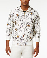 Sean John Men's Bird-Print Zip-Front Linen Hoodie