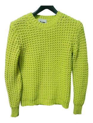 Acne Studios Yellow Wool Knitwear
