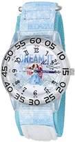 Disney Girl's 'Cinderella' Quartz Plastic and Nylon Watch, Color:Blue (Model: W002942)