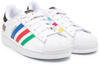 Adidas Originals Kids Superstar lace-up trainers