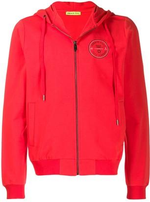 Versace logo crest hoodie