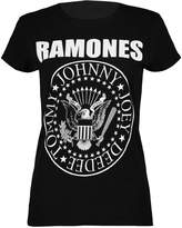 Thever Women Ladies Cap Short Sleeve Bodycon Ramones Print Top T Shirt