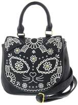 Loungefly Embroidered Sugar Skull Cat Day of the Dead Vegan Crossbody Bag Purse