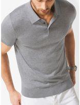 Michael Kors Silk and Cotton Polo Shirt