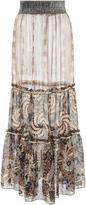 Anna Sui Lurex Jacquard Skirt