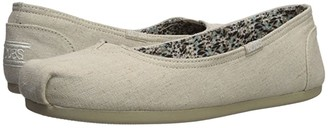 BOBS from SKECHERS Bobs Plush - Center Stage (Natural) Women's Slip on Shoes