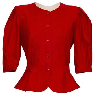 Ungaro Red Cotton Jacket for Women Vintage