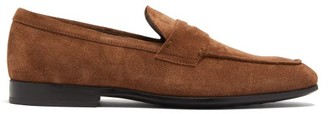 Tod's Suede Penny Loafers - Mens - Brown