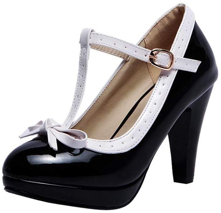 6c0f13ee4d5d7 Black Low Heel Mary Jane's - ShopStyle Canada