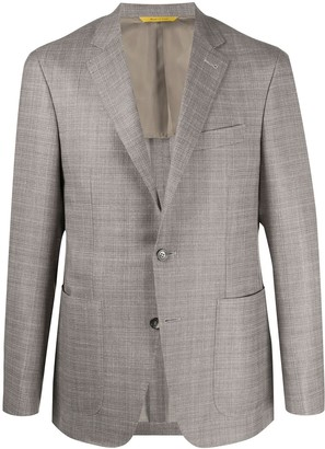 Canali Kei Slim-Fit linen-blend blazer