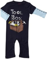 City Threads Tool Box 2Fer Romper (Baby) - Navy-12-18 Months