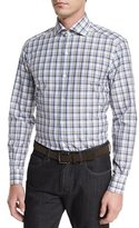 Ermenegildo Zegna Plaid Long-Sleeve Sport Shirt, Beige