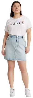 Levi's(r) Premium Deconstructed Skirt (Check Ya Later) Women's Skirt