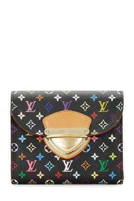 Louis Vuitton Takashi Murakami X Black Monogram Multicolore Joey Wallet