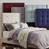 Inspire Q IQ KIDS Marion Nailhead Wingback Tufted Twin-Sized Upholstered Bed