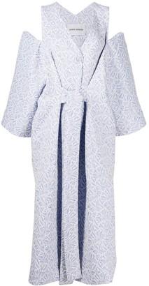Henrik Vibskov Cold-Shoulder Belted Dress