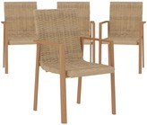 Cosco Outdoor Living Sand Springs Dining Chairs 4-pack