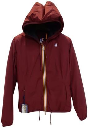 K-Way Burgundy Cotton Jacket for Women