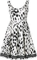 Twin-Set brush print flared dress
