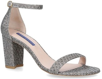 Stuart Weitzman Glitter Tweed Nearly Nude Sandals